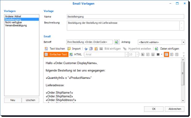 E Mail Vorlagen 0